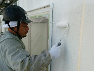 千葉県木更津市 外壁塗装 中塗り2
