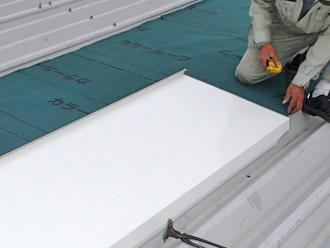 千葉県木更津市 屋根の雨漏り補修 ガルバリウム鋼板の屋根材設置