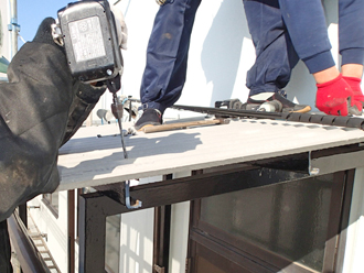 千葉県木更津市 階段の屋根補修