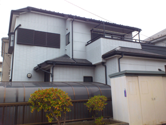 千葉市美浜区 屋根塗装 外壁塗装 カラーシミュレーション 塗装前 全体