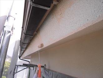 富里市屋根外壁塗装、塗装中上塗り004