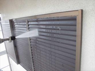 富里市外壁塗装、屋根塗装工事洗浄作業003