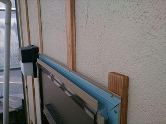 八千代市外壁カバー工事、胴縁、役物工事001