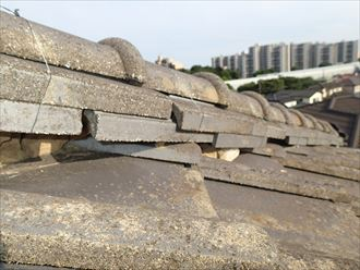千葉市稲毛区|セメント瓦専用塗料水系カスタムシリコンで屋根塗装