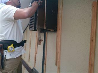 八千代市外壁カバー工事、胴縁、役物工事002