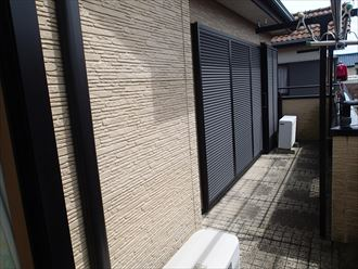 稲毛区 外壁、屋根塗装 事前調査上サイディング