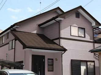 成田市 外壁塗装 屋根塗装 色決め 色選び ピンク系