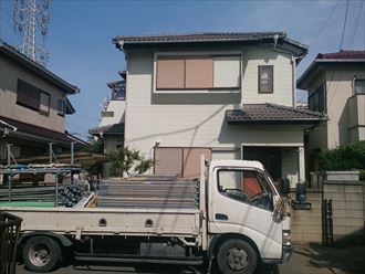 稲毛区セメント瓦屋根工事001