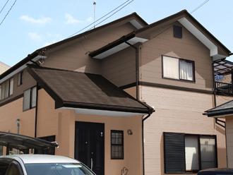 成田市 外壁塗装 屋根塗装 色決め 色選び 茶系