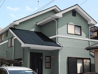 成田市 外壁塗装 屋根塗装 色決め 色選び グリーン系