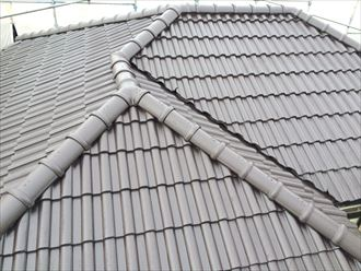 稲毛区セメント瓦屋根塗装004