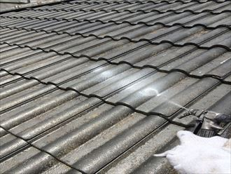 稲毛区セメント瓦屋根塗装003