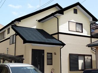 成田市 外壁塗装 屋根塗装 色決め 色選び クリーム系
