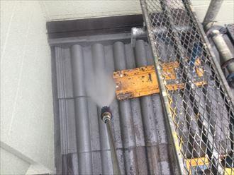 稲毛区セメント瓦屋根塗装001