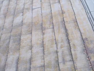 横浜市緑区でスレート屋根の2回目の塗装工事をおこないます