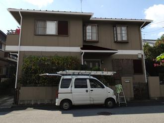 野田市 外壁塗装 屋根塗装 色決め カラーシミュレーション 外壁:ND-375 屋根:CS2371