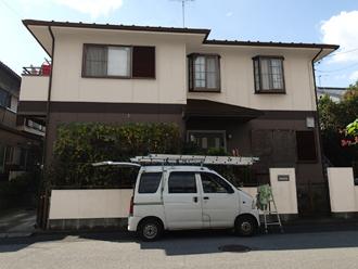 野田市 外壁塗装 屋根塗装 色決め カラーシミュレーション 茶系×クリーム系ツートン