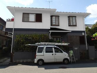 野田市 外壁塗装 屋根塗装 色決め カラーシミュレーション グレー×ホワイト ツートン
