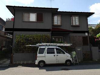 野田市 外壁塗装 屋根塗装 色決め カラーシミュレーション 外壁:ND-13 屋根:CS2352