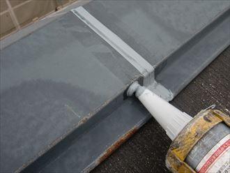 鎌ヶ谷市屋根外壁塗装足場洗浄下処理工事017
