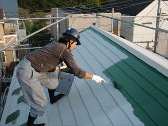 鎌ヶ谷市屋根外壁塗装足場洗浄下処理工事032