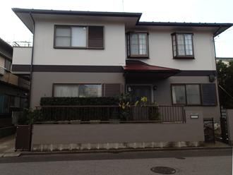 野田市でベスコロフィラーHGを下塗りに屋根塗装を行いました