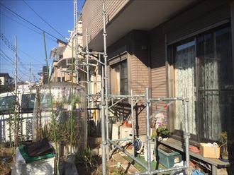 八千代市,外壁塗装,足場仮設,屋根カバー工事