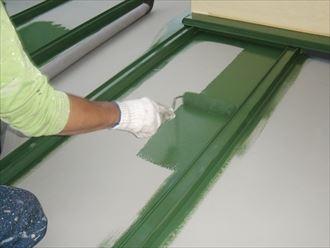 鎌ヶ谷市屋根外壁塗装足場洗浄下処理工事038