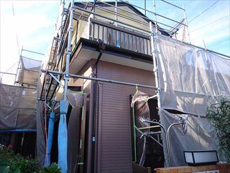鎌ヶ谷市屋根外壁塗装足場洗浄下処理工事053