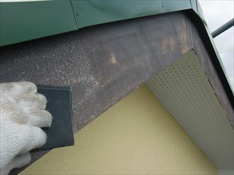 鎌ヶ谷市屋根外壁塗装足場洗浄下処理工事036