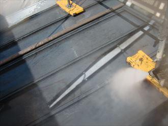 鎌ヶ谷市屋根外壁塗装足場洗浄下処理工事005