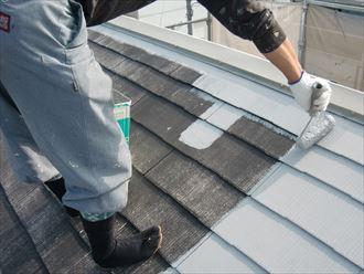 鎌ヶ谷市屋根外壁塗装足場洗浄下処理工事028