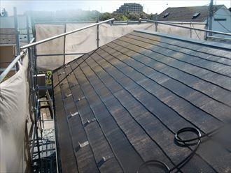 鎌ヶ谷市屋根外壁塗装足場洗浄下処理工事002