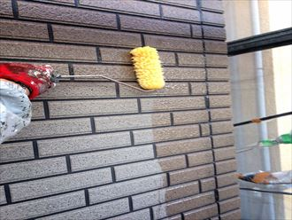 八千代市,外壁塗装,UVプロテクトクリアー,施工中