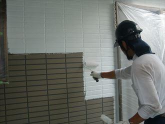 鎌ヶ谷市屋根外壁塗装足場洗浄下処理工事024