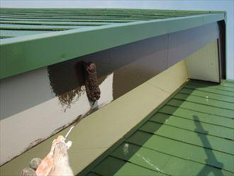 鎌ヶ谷市屋根外壁塗装足場洗浄下処理工事040
