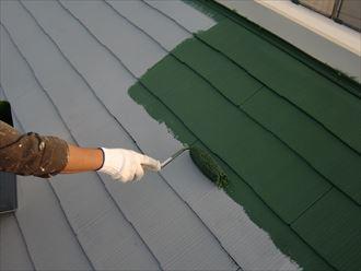 鎌ヶ谷市屋根外壁塗装足場洗浄下処理工事031