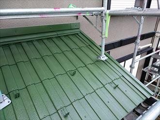 千葉市|一液ワイドシリコン遮熱αで屋根塗装のBefore・Afterです