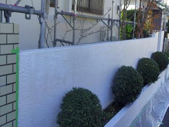 千葉市 門壁の塗装 下塗り後