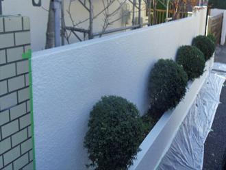 千葉市 門壁の塗装 完了
