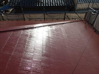 ート屋根の塗装、ファインシリコンベストを使用いたしました