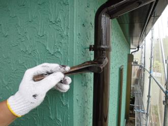 雨樋塗装 重ね塗り