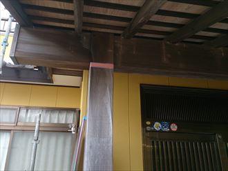 玄関,柱,あく洗い