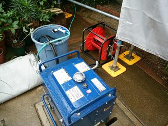 業務用の高圧洗浄機