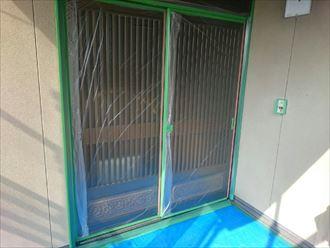 養生,塗装,ドア