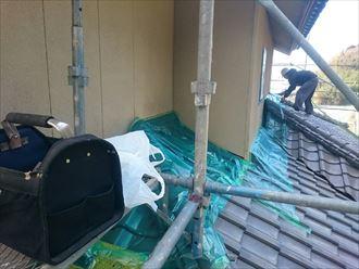 養生,塗装,屋根