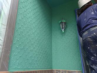 1階部分外壁塗装完成