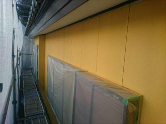 富津市 塩害にさらされた雨戸戸袋の塗装です!