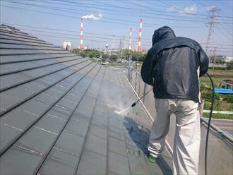 屋根,高圧洗浄
