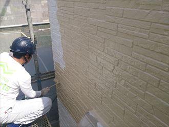 外壁,中塗り